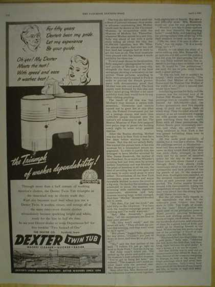 Dexter twin tub. Triumph of washer responsibility (1945)