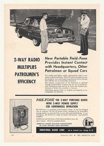 '54 Industrial Radio Field-Fone Pak-Fone 2-Way Radio (1954)