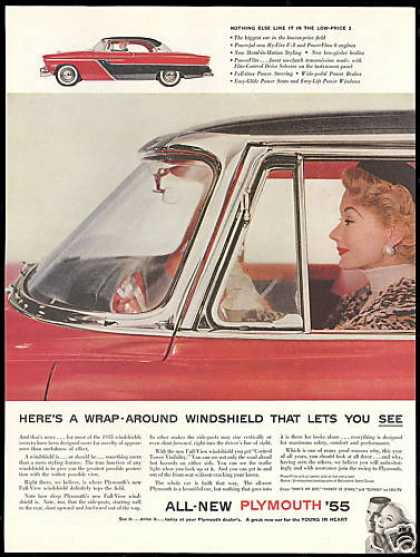 Plymouth 2dr Car Wrap Around Windshield (1955)