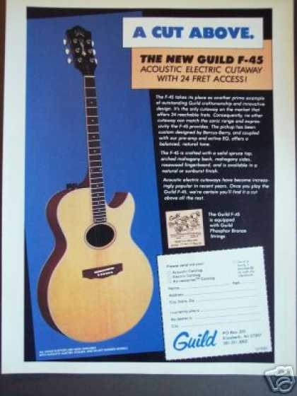 Guild F-45 Acoustic Electric Cutaway Guitar (1983)