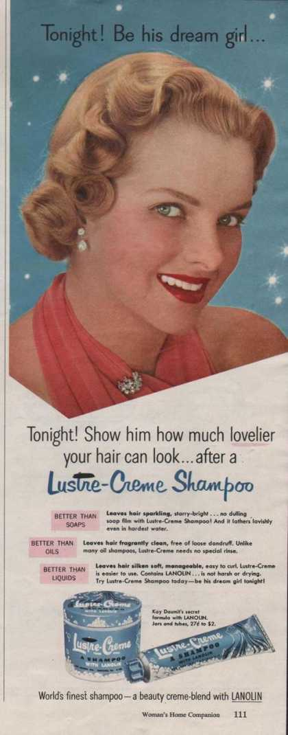 Lustre Creme Shampoo With Lanolin (1951)
