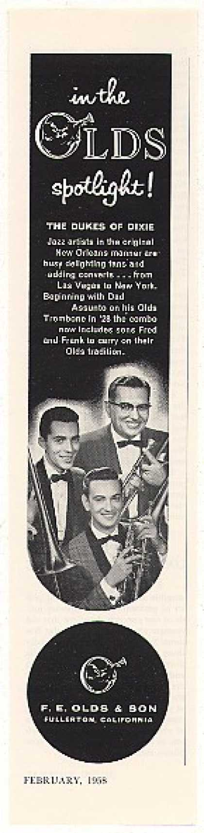 The Dukes of Dixie FE Olds Trombone Photo (1958)