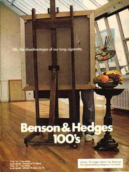 Benson & Hedges Cigarettes – Disadvantages of … – Art (1976)