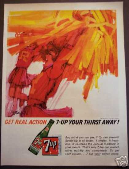 Original Cheerleader Art – B. Peak 7up 7 Up (1964)