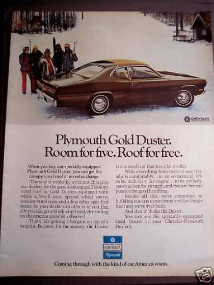 Chrysler Plymouth Gold Duster Car (1972)