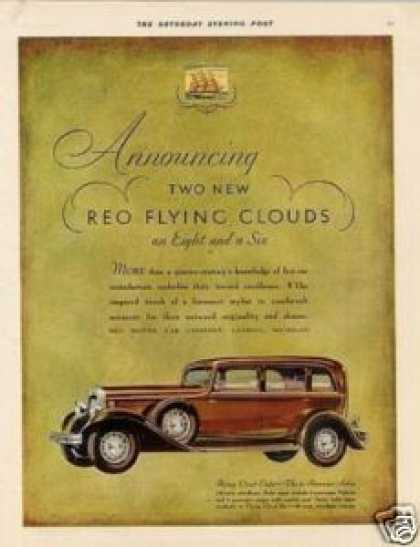 Reo Flying Cloud Eight Sedan Color (1930)