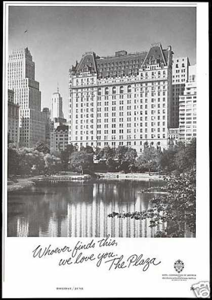 The Plaza Hotel Photo New York (1966)