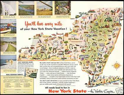 New York State Vacation Empire Travel (1954)