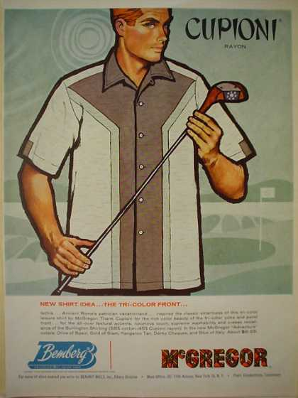 Cupioni Rayon Bemberg McGregor Mens Golf theme (1960)