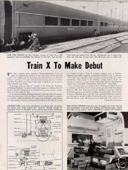 """Train X To Make Debut"" Article/nyc, P-s (1956)"