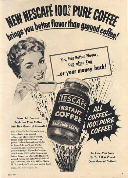 Nescafe's Instant Coffee (1954)