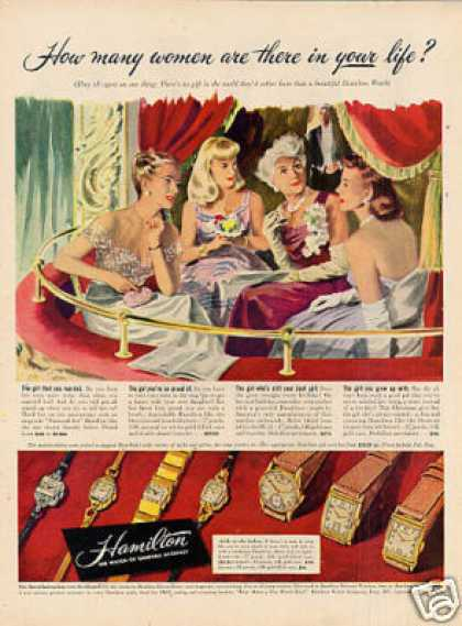 "Hamilton Watches Ad ""How Many Women... (1947)"