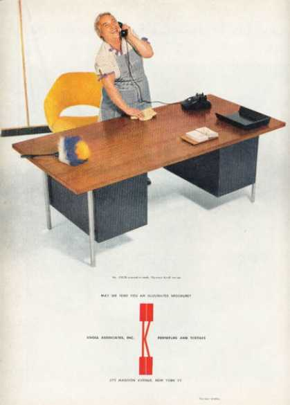Knoll Desk Furniture Ad Florence Knoll Design (1955)