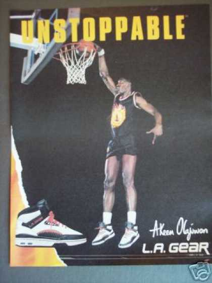 Akeem Olajuwan L.a Gear Basketball Shoes Photo (1989)