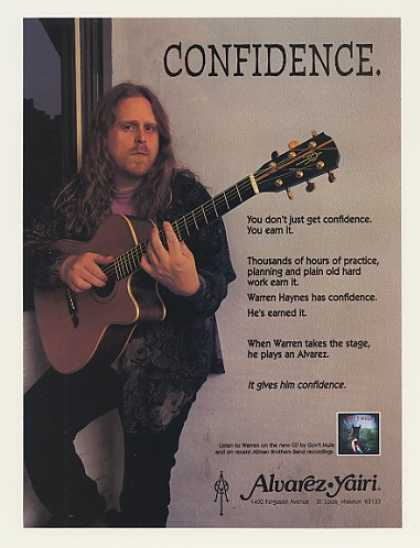 Warren Haynes Alvarez Yairi Guitar Photo (1996)