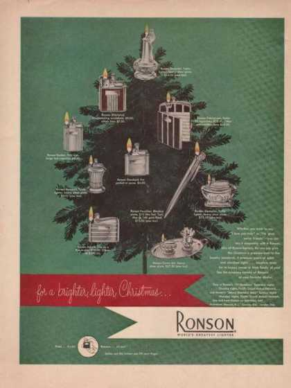 Ronson Lighter Worlds Greatest (1949)