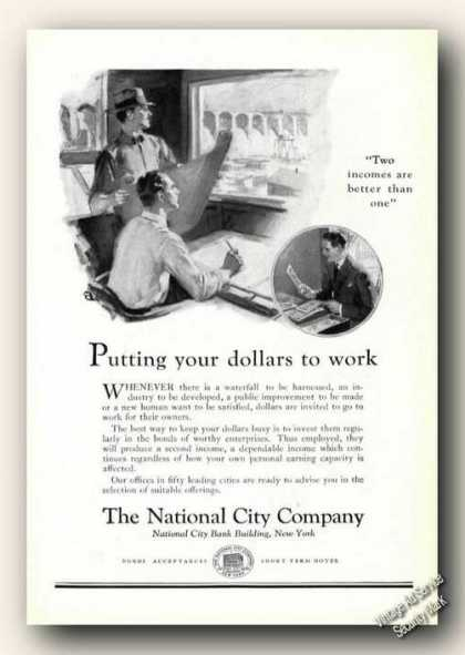 Putting Your Dollars To Work National City Co (1926)