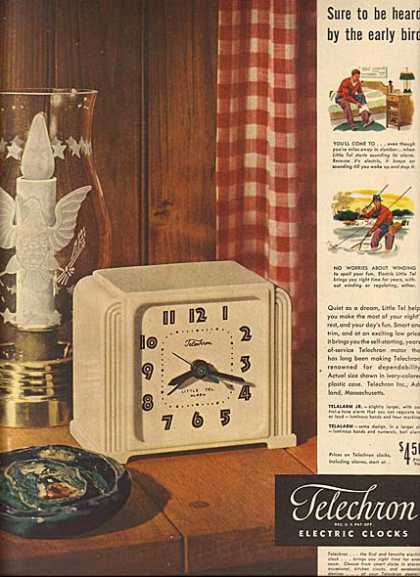 Telechron's Little Tel electric alarm clocks (1948)