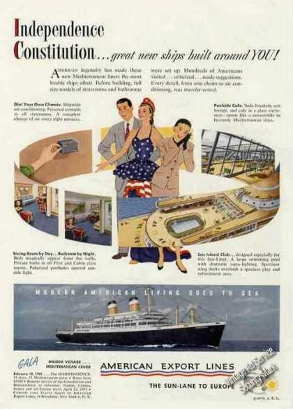 Maiden Cruise the Independence American Export (1950)