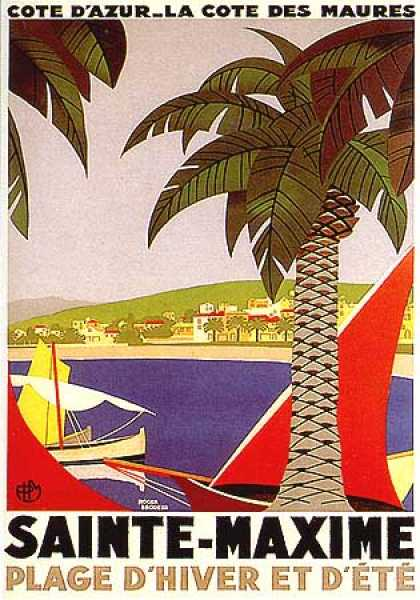 Saint Maxime by Roger Broders (1930)