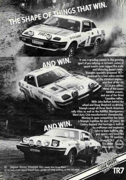 "Triumph Tr7 ""Win and Win and Win"" Racing (1979)"