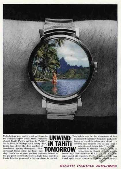 "South Pacific Airlines ""Unwind In Tahiti"" (1961)"