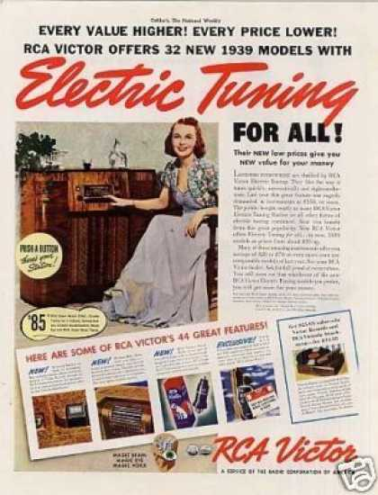 Rca Victor Radio Color Ad Model 97kg (1939)
