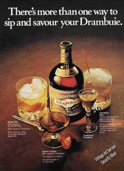 Sip & Savour Your Drambuie Uk Recipes (1977)