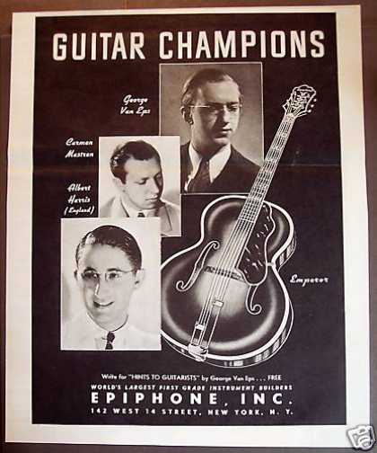 Epiphone Guitars George Van Eps Music (1938)