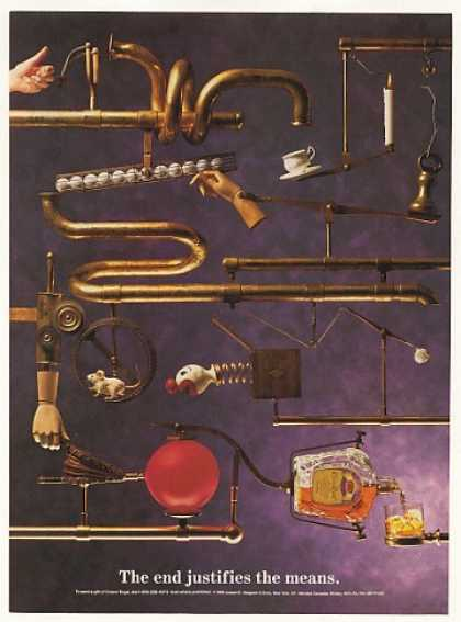 Rube Goldberg Machine Crown Royal Whisky (1990)