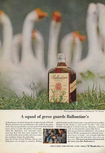 Ballantine Scotch Whisky Bottle (1962)