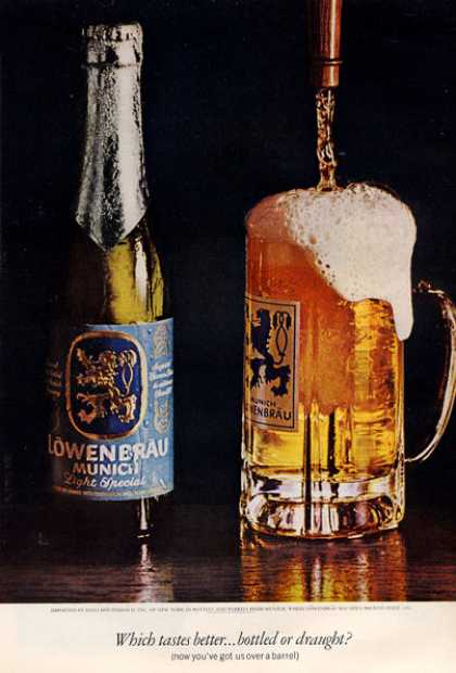 Lowenbrau Beer Bottle Glass (1971)
