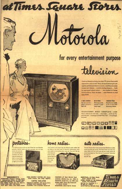 Motorola's various – Motorola for every entertainment purpose (1950)
