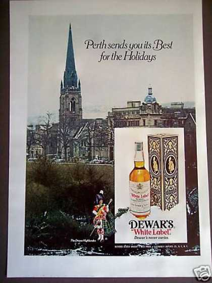 Dewar's White Label Scotch Perth Photo (1975)