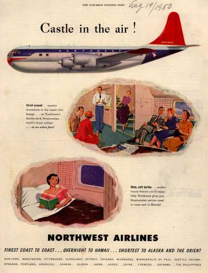 Northwest Airline's Stratocruiser – Castle in the air (1950)