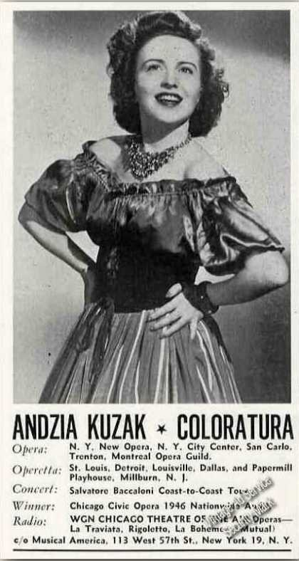 Andzia Kuzak Photo Coloratura Antique Trade (1947)