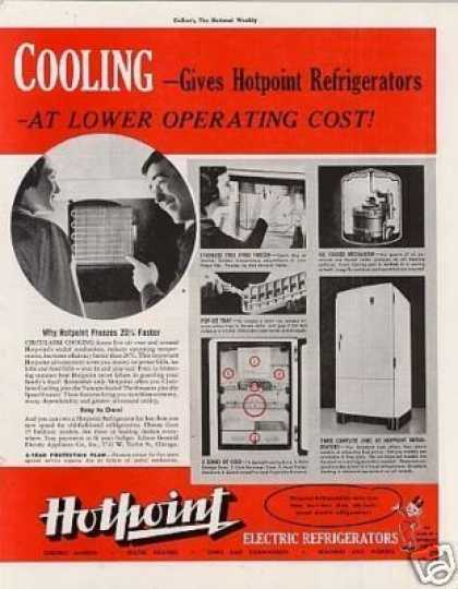 Hotpoint Refrigerator Ad 2 Page (1938)