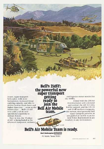 Bell 214ST Super Transport Military Helicopter (1980)