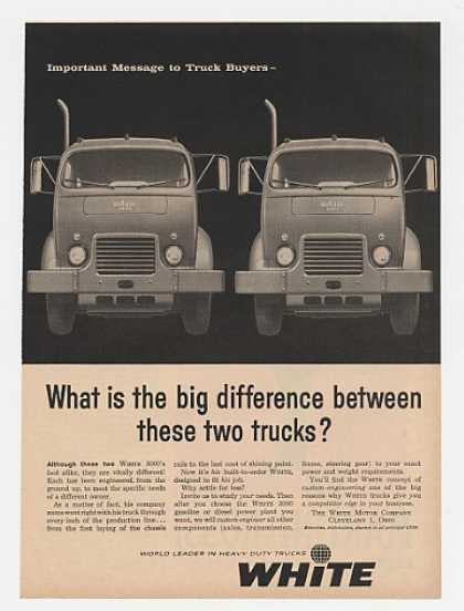 White 3000 Built to Order Truck Trucks (1959)