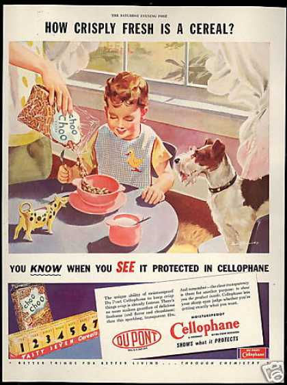 Du-Pont Cellophane Cereal Wire Fox Terrier Dog (1946)