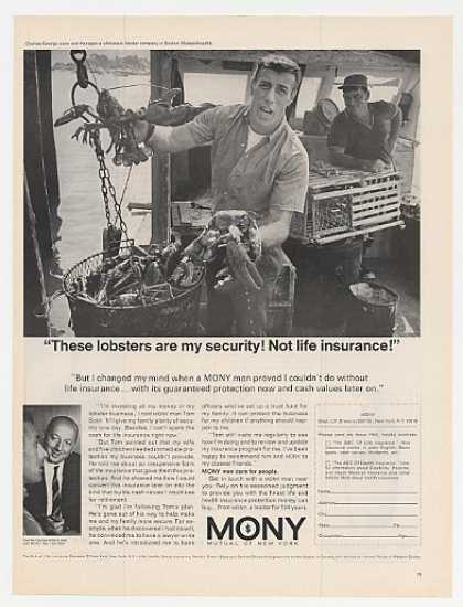 Charles George Lobsters MONY Insurance Photo (1967)