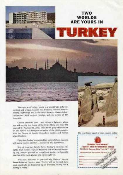 """Two Worlds Are Yours In Turkey"" Nice Travel (1967)"