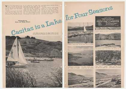 Lake Casitas Ventura County CA 2-Pg Photo Article (1961)
