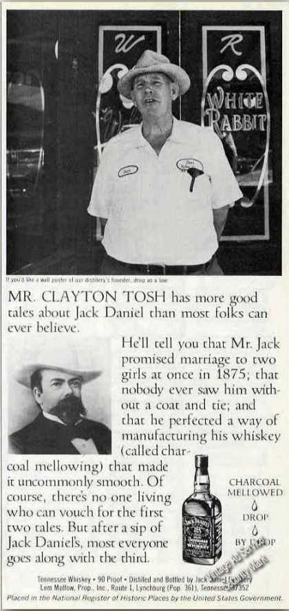 Jack Daniel's Mr. Clayton Tosh Photo (1981)