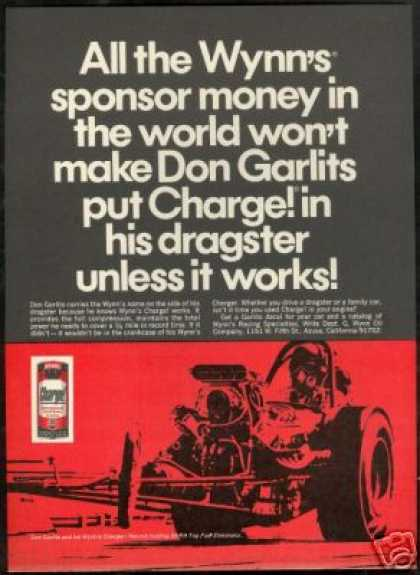 Don Garlits NHRA Dragster Wynn's (1968)