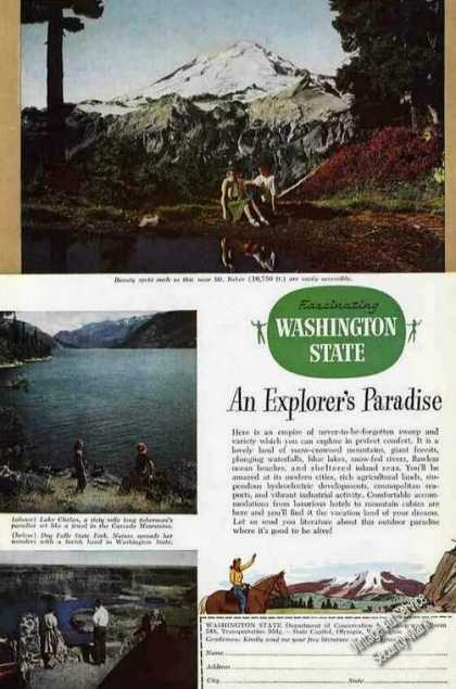 Mt Baker/lake Chelan/dry Falls Wa State Photos (1948)