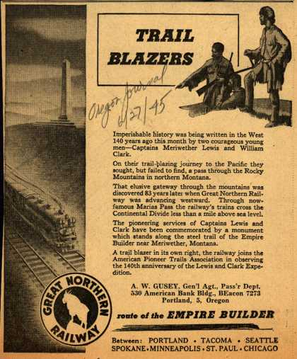 Great Northern Railway's various – Trail Blazers (1945)