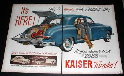 "Kaiser Traveler, ""It's Here!"" Exc (1949)"