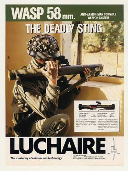 Luchaire WASP 58 Anti-Armor Portable Weapon Sys (1989)