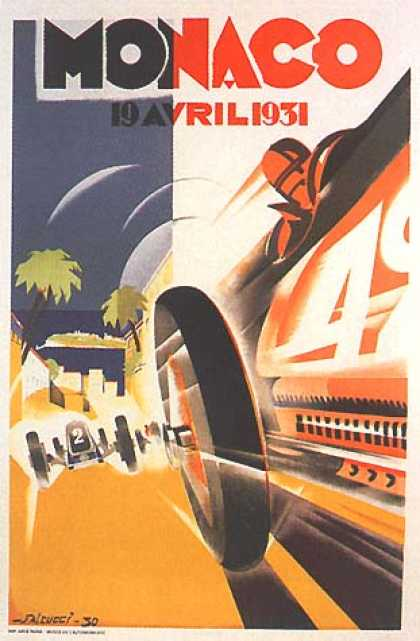 Monaco Grand Prix by Geo Ham (1931)